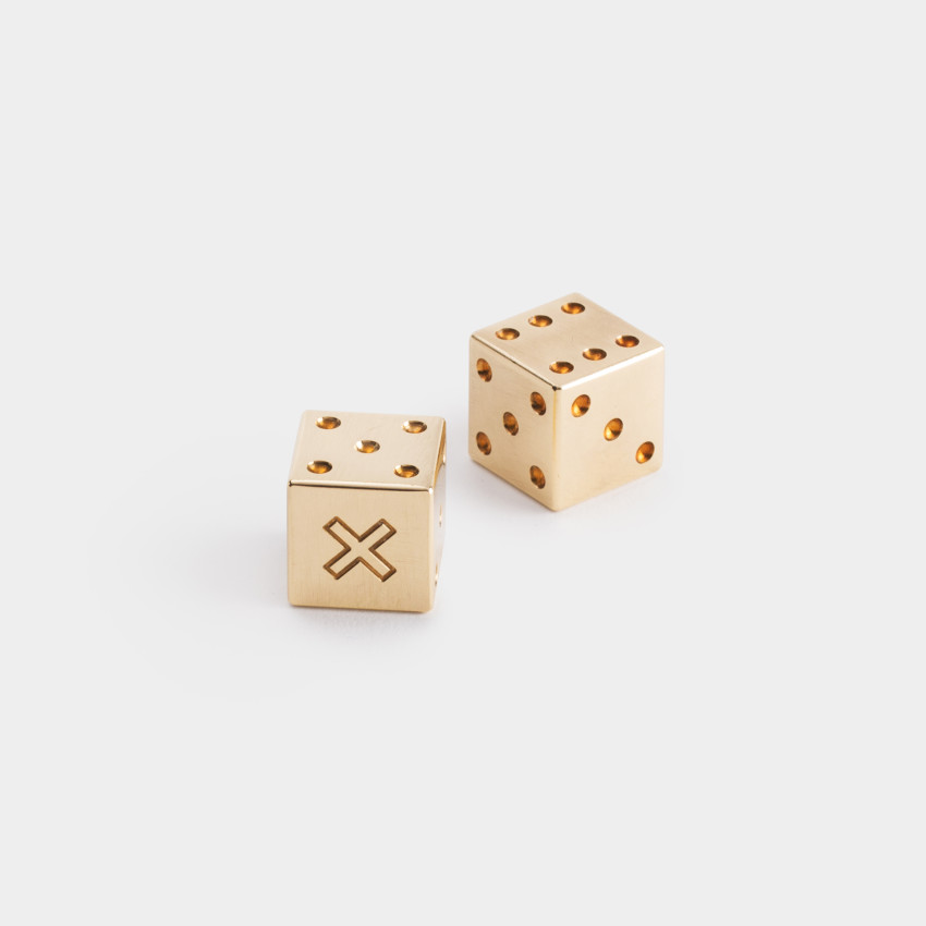 Solid Brass Dice