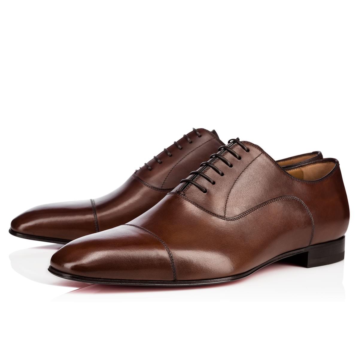 Christian Louboutin Brown Greggo Flat Shoes