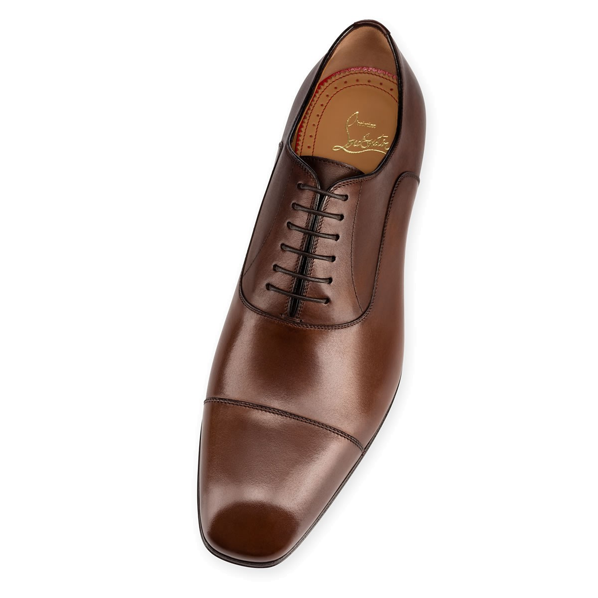 Christian Louboutin Brown Greggo Flat Shoe Top